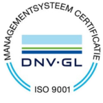 ISO 9001 certificaat uitsnede