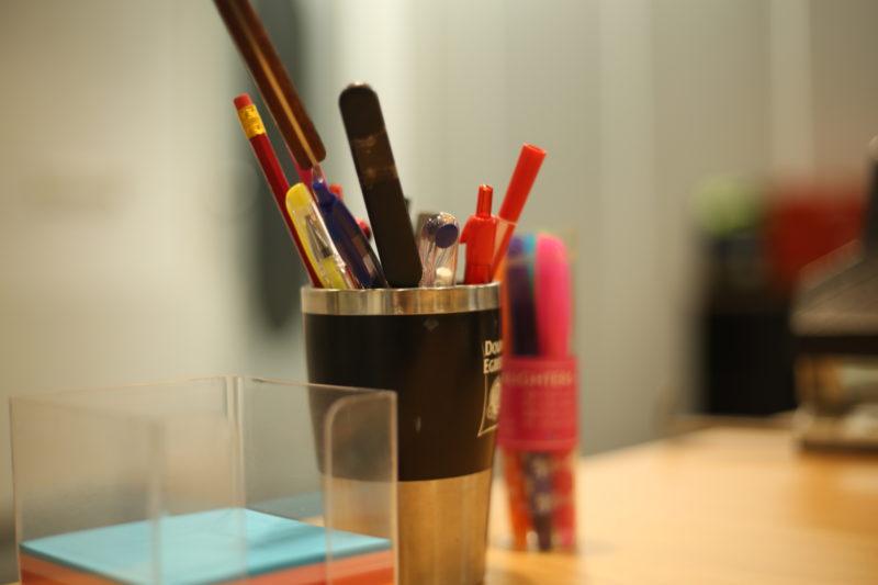 Pennenbak kantoor